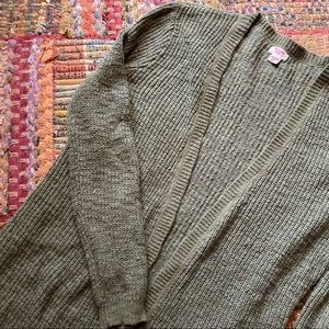 Lightweight Olive Green Cardigan